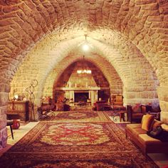 """""""Our family's house in the Lebanese mountains is 300 years old and resembles Ali Baba's cave."""""""