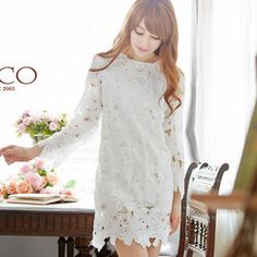 Buy 'Tokyo Fashion – Long-Sleeve Shift Lace Dress' at YesStyle.com plus more Taiwan items and get Free International Shipping on qualifying orders.