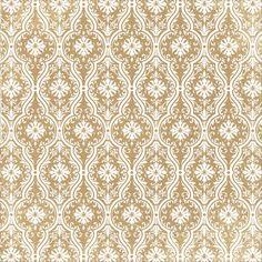 "Anna Griffin - Bat-Tastic Collection - 12""x12"" Kraft Cardstock - White Damask"