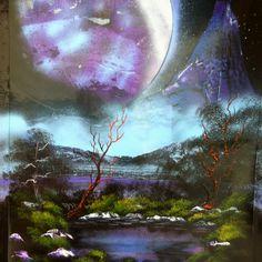 Spray painting - art by Robert Stevens