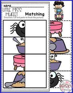 Nursery Rhymes Preschool Little Miss Muffet (Nursery Rhyme Sequencing)