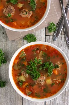 Easy Mexican Meatball Soup (Albondigas) | YummyAddiction.com
