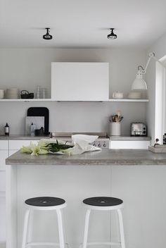 #kitchen #white #interior