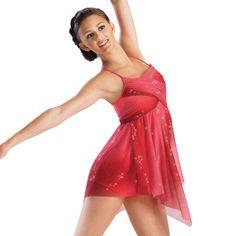 Ombre Glitter Mesh Wrap Lyrical Dress; Balera