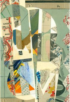 """A collage entitled """"Whisper"""" created in 2013 -Robert H. Collages, Collage Design, Collage Art, Composition, Cut And Paste, Whisper, Tatting, Mixed Media, Scrap"""