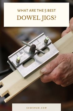 Discover the best dowel jig for all of your DIY furniture woodworking projects. Learn why this tool is the perfect combination of strength, simplicity, and accuracy. Woodworking Projects Diy, Diy Pallet Projects, Teds Woodworking, Home Projects, Pallet Furniture Plans, Repurposed Furniture, Diy Furniture, Dowel Jig, Homemade Tables