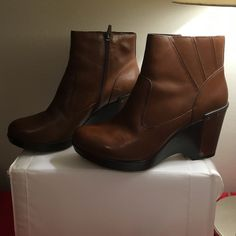 "Dansko Faith Dansko faith boot. Heel 3 1/2, platform 1"", made of leather. Only worn a few times. Minor wear. Very comfortable and very stylish. Dansko Shoes Ankle Boots & Booties"
