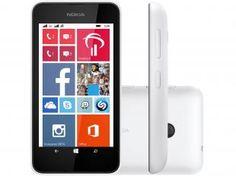 "Smartphone Nokia Lumia 530 Dual Chip 3G - Windows 8.1 Câm. 5MP Tela 4"" Proc. Quad Core"