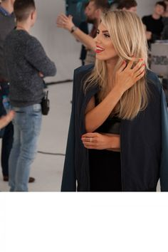 Mollie King On The Set Of A Saturdays Video