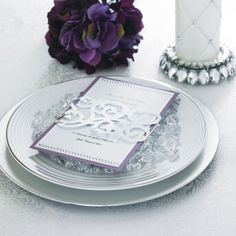 Michaels.com Wedding Department: Eggplant Wedding Menu Create standout style for your big day. Adorn menus with Celebrate It metallic wraps and Recollections™ Stickers and Rhinestones.
