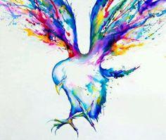 Tattoo watercolor bird