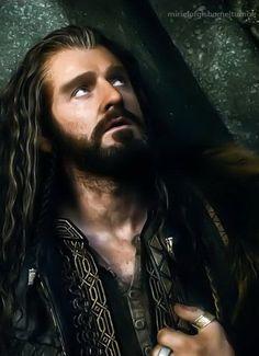 The Hobbit:  The Battle of Five Armies...mmmmmm, Thorin ;)