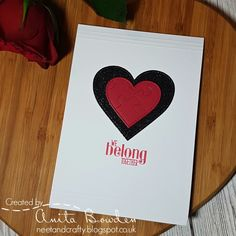 Hi there   Back again to share another card. This is the Valentine's Day card I made for my boyfriend.   Here it is...      I started by di...