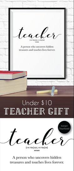 Teacher appreciation, gift for teacher, Teacher definition INSTANT DOWNLOAD, Teacher printable wall art, classroom decor, Thank you teacher