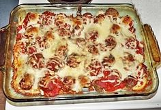 Meatball Sub Casserole from @MrsMeltaway