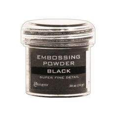 Super Fine Black Embossing Powder