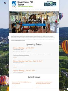 Another ASQ section relies on Frogtown Web Design. Welcome ASQ Binghamton! Portfolio Web Design, News Sites, Upcoming Events, Wordpress, Website