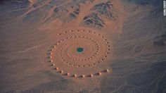 Desert Breath, an art installation in a one-million-square-foot exspance of desert near the Red Sea in Egypt,created in 1997 by art team.Still stands today.