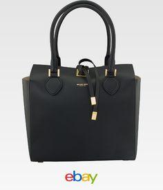 Michael Kors Jet Set Saffiano Medium Black Leather Women S Handbag 31f4gmdt6l001