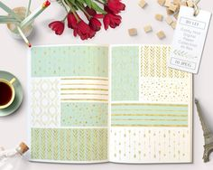 By Lef graphics on Etsy Gold and Mint Digital papers with arrows stripes dots confetti and leaves in mint and white for digital scrapbooking cards invites tribal by ByLef