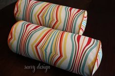 DIY bolster pillows - pre-made welted bias tape makes it snappy!
