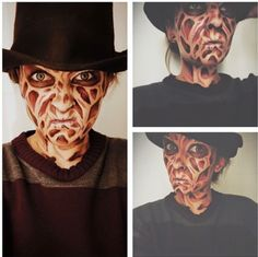 22 Halloween Makeup Looks Ideas to Try This Year | Freddy krueger ...