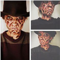 Halloween Makeup Freddy Krueger DIY no prostetics