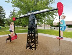 Oil Rig Seesaw! This is so cool and duh our kids need it!