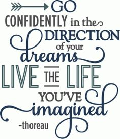 Silhouette Online Store - View Design #57327: go confidently your dreams - layered phrase