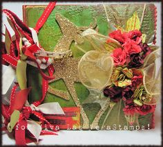 December Daily made with #VivaLasVegaStamps #tatteredangels and upcycled materials. Video available here :  http://www.youtube.com/watch?feature=player_embedded=i3iCrhk2Brc    http://www.facebook.com/leslierahyesfanpage