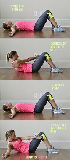 Side Core Exercise - 15 ABS Exercises to Shrink Your Holiday Muffin Top | GleamItUp