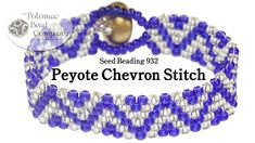 This video tutorial from Potomac Bead Company co-founder Allie Buchman teaches you how to use peyote stitch to create a chevron pattern. This video uses Miyuki seed beads, but you can use nearly any size. Beaded Bracelets Tutorial, Seed Bead Bracelets, Seed Bead Jewelry, Diy Bracelet, Flower Bracelet, Beaded Jewelry Patterns, Bracelet Patterns, Beading Patterns, Bracelets
