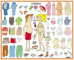 name list of the clothes in english