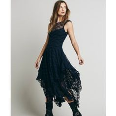 Free People Black French Courtship Slip  new without tags. excellent condition. looks great with a seamless slip underneath. Free People Dresses