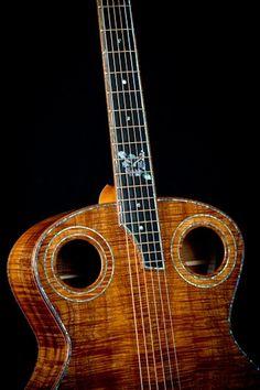 Acoustic koa jumbo sized guitar from DeVine Guitars. acoustic-guitars-inspiration