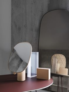 Interior inspiration, featuring Muuto's Mimic Mirror, Framed Mirror and Airy Coffee Table. Scandinavian design inspiration for the modern home.