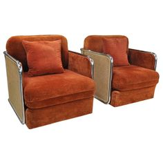 Thayer Coggin Lounge chairs attributed to Milo Baughman 1