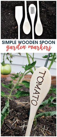 Use cheap wooden spoons from the Dollar Tree to make these simple garden markers with a wood burning pen.