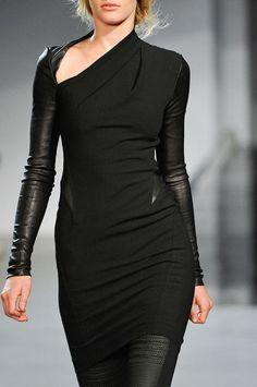 Stylish black leather leggings dress
