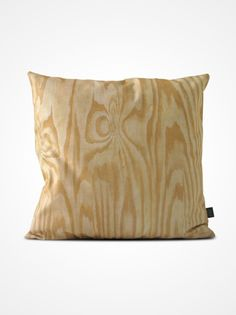 'Plywood' Pillow by howareyou: Printed and handmade in Sweden.100% cotton canvas. #Pillow #Plywood #howareyou