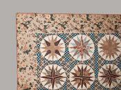 Elaborer Compass Quilt, Maryland, le c1830 de chintz et Cotton Appliqued Mariner