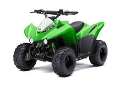 New 2016 Kawasaki KFX50 ATVs For Sale in California. The KFX®50 ATV is the perfect first ATV to introduce new riders six years and older to the exciting four-wheel lifestyle. 49.5 cc four-stroke engine and automatic transmission delivers smooth beginner-friendly performance Push button electric start provides simple and reliable starting Parental controls such as an engine stop lanyard, adjustable throttle limiter, and CVT collar allow the speed and performance to be adjusted to rider…