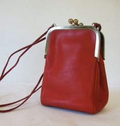 COACH BONNIE CASHIN DOUBLE KISS LOCK SWING RED SHOULDER CROSSBODY NYC BAG VTG ($134.11) - Svpply