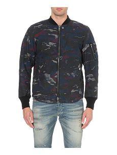 DIESEL W-Max camouflage-print jacket