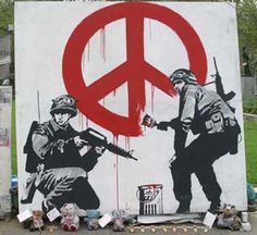 Banksy .British street artist.
