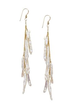 Pearl Stick Earrings – Hottest Designer Pearl and Leather Jewelry | VINCENT PEACH