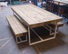 Aufgearbeiteten Industrial Chic 6-8 Sitzer Massivholz und