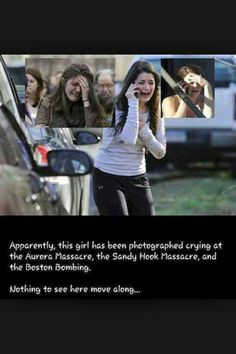 """That's weird...what a """" coincidence"""" .... She is a crisis actor. See the FEMA ads to hire them."""