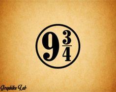 Platform 9 3/4 Vinyl Decal Platform 9 3/4 Vinyl Decal