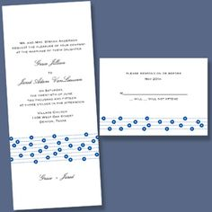 This bright white tea length non-folding invitation features a whimsical floral design. Your invitation wording is printed above the design and your first names below.